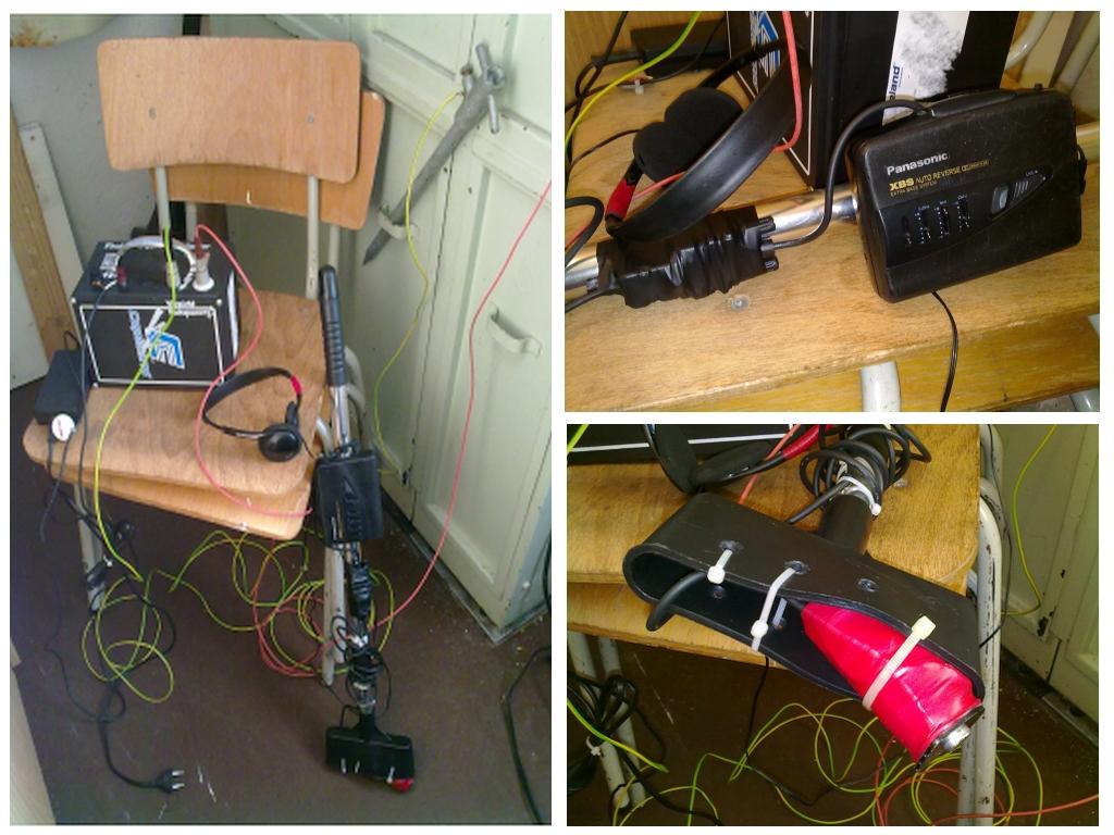Sender und Empfänger zur Kabelortung sowie Zubehö
